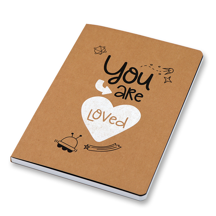 Soft Cover Kraft Notebook A5 _ Space Featured Image