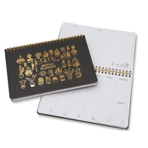 Hard Cover Weekly Planner A5 _ black