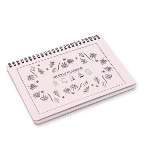 Hard Cover Weekly Planner A5 _ pink