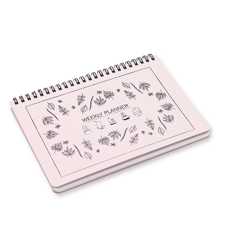 Hard Cover Weekly Planner A5 _ pink Featured Image