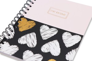 Wire-o Notebook _ Pink & Black