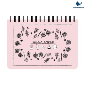 Hard Cover Weekly Planner A5 _ Pink & Black