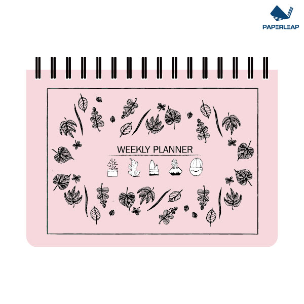 Hard Cover Weekly Planner A5 _ Pink & Black Featured Image