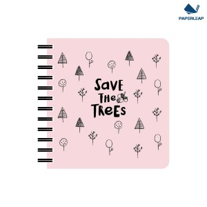 Hard Cover Notebook 150 x 160 _ Pink & Black