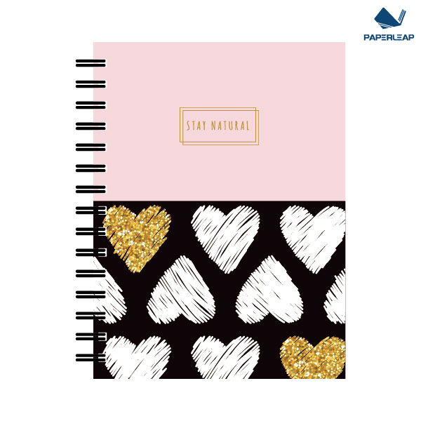 Wire-o Notebook _ Pink & Black Featured Image
