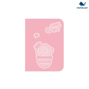 Hard Cover Thermo Coated PU Notebook A6 _ Pink & Black