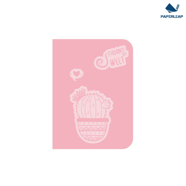 Hard Cover Thermo Coated PU Notebook A6 _ Pink & Black Featured Image