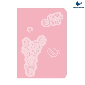 Soft Cover Thermo Coated PU Notebook A5 _ Pink & Black