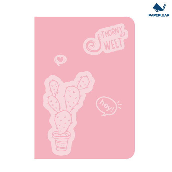 Soft Cover Thermo Coated PU Notebook A5 _ Pink & Black Featured Image